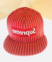Int'l Shipping Avail Supreme Comme Des Garcons 14 Ss New Era Cap Red 7-1/2