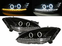 S-class W221 2006-2009 Cotton Halo Hid Afs Headlight Black For Mercedes-benz Lhd