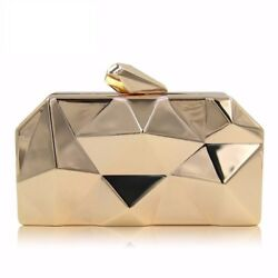 Bag Female Metallic Evening Clutches Bags Women Clutch Purses Ladies with Chain