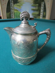 Antique 974 Quadruple Silverplate Rockford Small Pot -milk Jar Original