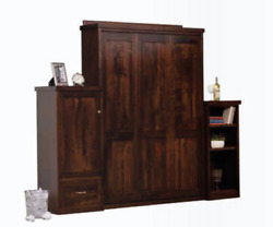 Custom Built | Usa Hand Made To Order | Full Wall Bed | Solid Wood Murphy Bed