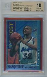 1995-96 Finest Bordered Test Refractor #M22 Shaquille O'Neal BGS 10 (Pop 1)
