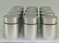 12x Airtight-smell-proof-container-aluminum-herb-stash-jar,ur Cost Is 4.55 Each