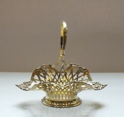 And Co. Sterling Silver Reticulated Gilded Basket, C. 1902-07