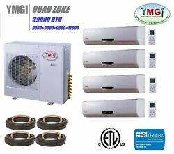 YMGI 39000 BTU QUAD 4 ZONE 9K-9K-9K-12K DUCTLESS SPLIT AIR CONDITIONER HEAT PUMP