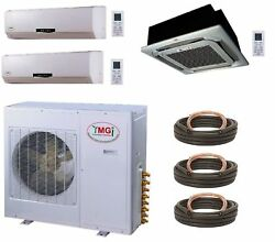 YMGI 48000BTU 12K+12K WALL +24K CASSET  3 ZONE MINI SPLIT AIR CONDITIONER HEAT