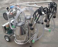 Brand New For Cows + Goats Oil Free Double Tank Vacuum Pump Milker Fi