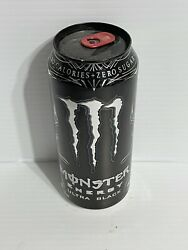 Monster Energy Drink Ultra Black Old Collector Can Sku 0514c