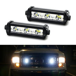 White 3-CREE LED Daytime Running Lights For Behind Grille or Lower Bumper Insert