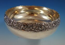 Repousse By Shreve Sterling Silver Fruit Bowl Dated January 1893 2381