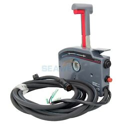 Boat Outboard Remote Control Box For Yamaha 10pin Cable Left Side Push Throttle