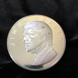 Jimmy Carter Inauguration Medal .999 Fine Silver Serial 1833