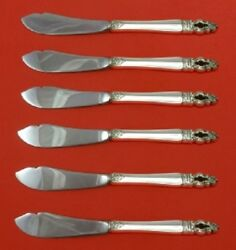 Sovereign-hispana By Gorham Sterling Silver Trout Knife Set Hhws 6pc Custom