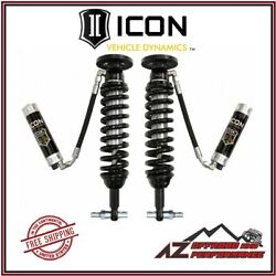 Icon Front Remote Reservoir Coil Over Shock Kit W/ Cdcv For 2014 Ford F150 4wd