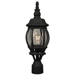 Craftmade Outdoor French Style Small Post Mount Textured Matte Black Z325 TB