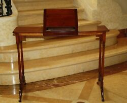 MAGNIFICENT 19C ENGLISH READING, SIDE TABLE CONSOLE SIGNED
