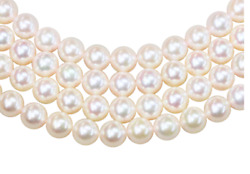 Natural Fine White Freshwater Pearl Strand - Round - China - Aaa Grade