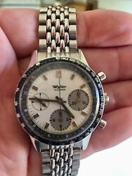 Wyler Lifeguard Vintage Watch Chronograph Compressor Beads Of Rice Band 3 Sold