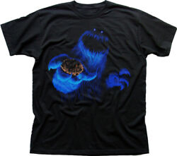 Cookie Monster Scary Black Printed T-shirt Oz9802