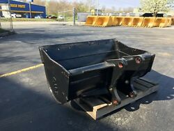 New 48 Ford 555d Backhoe Ditch Cleaning Bucket W/ Coupler Pins