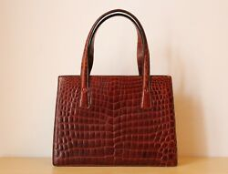 Authentic Valextra classic Woman bag very Posh in Real Crocodile Skin