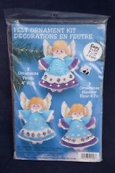 Vintage ANGEL Angels Felt Sequin Christmas ORNAMENT KIT  #5328 NIP