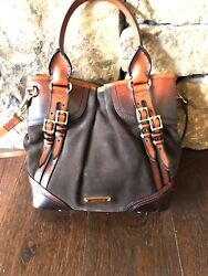 Designer Burberry Hobo   Exquisite suede With leather accents Purse