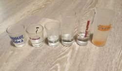 Absolut Vodka - Shot Glass Collection - Lot Of 6 Different Glasses