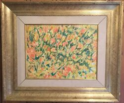 H. Lloyd Weston Listed Field Of Yellow And Orange Flowers- Oil On Canvas