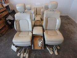 11-12 INFINITI QX56 FRONT 2ND 3RD ROW REAR SEAT CONSOLE TAN LEATHER HEAT POWER