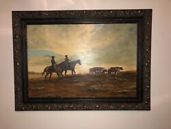 Mary Kimmel 1975 Morning After The Storm Oil Painting On Wooden Decor Frame