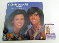 Marie Osmond Signed Record Album Donny And Marie Make The World Go Away Jsa Auto