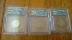 2005 Return Of The Buffalo 3coin Set First Day Of Issue 899of19913 Graded Ms67