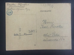 1944 Germany Theresienstadt Concentration Camp Postcard Cover Karl Steindler Kz