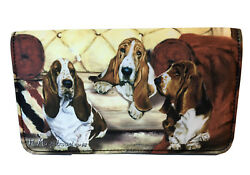 NEW Basset Hounds Dogs Pups Full Size Wallet Artwork Ruth Maystead Best Friends