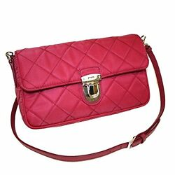 PRADA Women's Pink Tessuto Nylon Quilted Crossbody Shoulder Bag BT1025 NWT