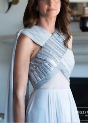 Custom Beaded Gown - Bibhu Mohapatra - Size 4 - Pale Gray