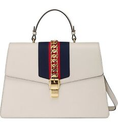 Brand New with Tags Maxi Gucci Sylvie Top Handle Leather Shoulder Bag MSRP $4800