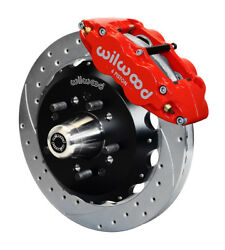 Wilwood Front Disc Brake Kit Fits 55-57 Chevy,13 Rotors,six Piston,drop Spindle