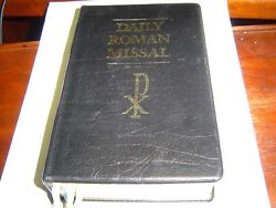 Good Cond Daily Roman Missal 2004 Black Leather