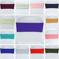 Spandex Chair Sashes Bows Ties Wedding Reception Decorations Dinner Wholesale