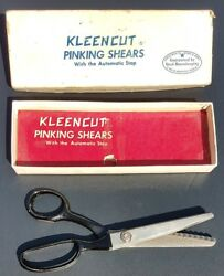 Vintage Kleencut Pinking Shears With Automatic Stopacme Shear Co.american Made