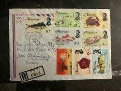 1976 Rose Hill Mauritius Airmail Cover To Strasbourg France Complete Stamp Set