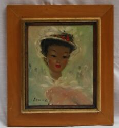 Magnificent French O/c Painting By Leroux Listed Artist Elegant Lady