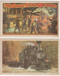 Lot Of 28 Locomotive Train Collector Cards Old Engines Events Innovations Nice
