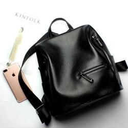 Fashion Designer Genuine Leather Women Backpack Drawstring School Bag Travel Bag