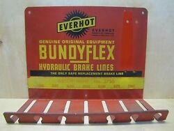 Old Everhot Brake Lines Gas Station Repair Shop Auto Parts Sign Store Display