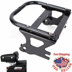 Detachable Black Two Up Tour Pak Pack Mounting Luggage Rack For Harley 97-08 Us