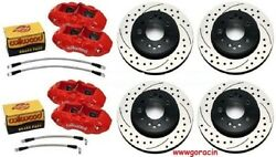 Chevy Corvette 65-82 C2c3 Direct Bolton 4 Piston Replacement Brakes By Wilwood