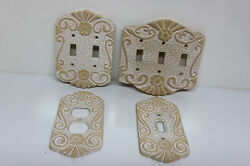 Terracotta Clay Decorative Light Pink & White Light Switch & Outlet Cover Plates